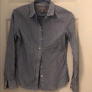Blue-white stripe shirt